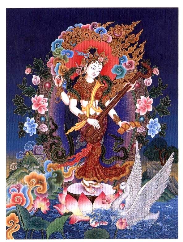 Standing Saraswati